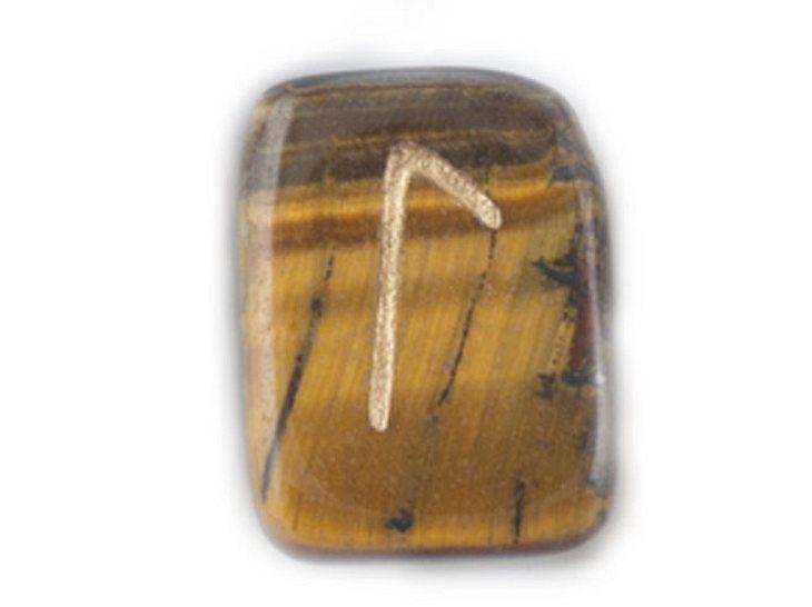 Die Namensrune Laguz mit dem Zahlenwert 21.