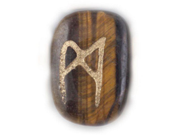 Die Namensrune Mannaz mit dem Zahlenwert 20.