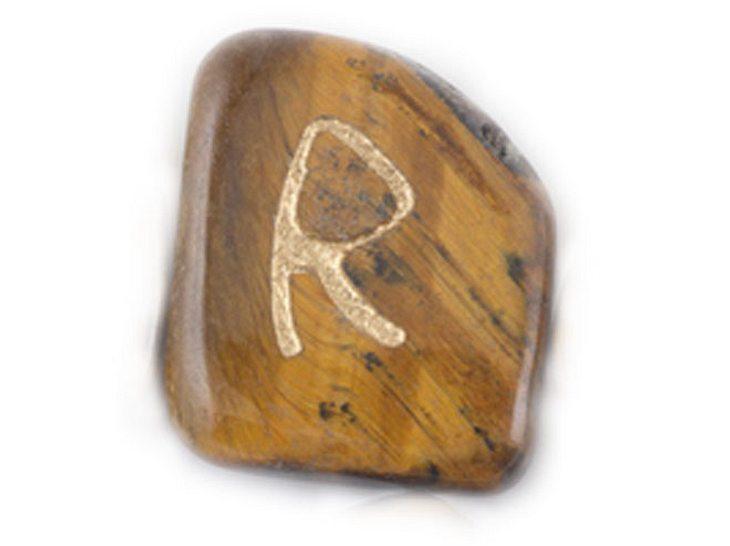 Die Namensrune Raidho mit dem Zahlenwert 5.