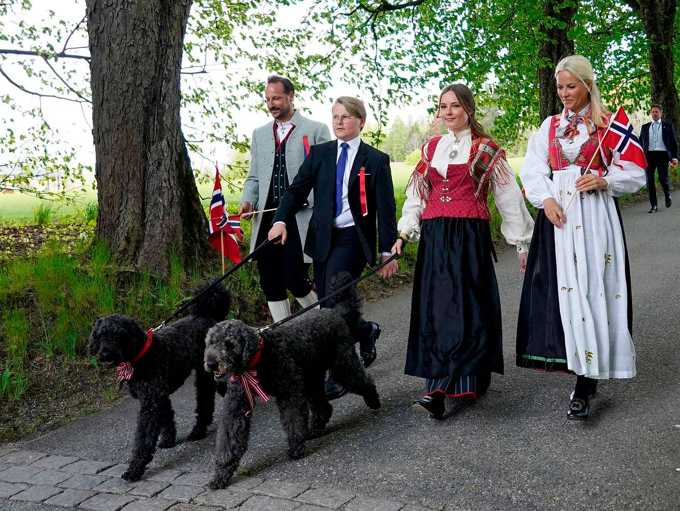 Nationalfeiertag in Norwegen mit der Kronprinzenfamilie am 17. Mai 2020.