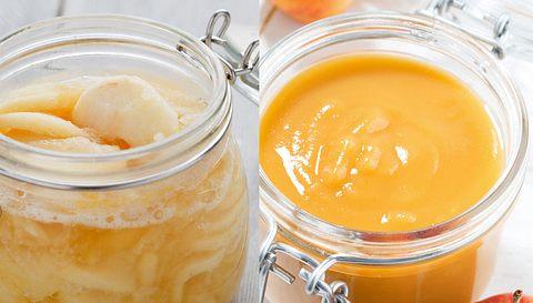 Selbst gemachtes Apfelkompott und selbst gemachtes Apfelmus. - Foto: TeQui0 / Yulia_Davidovich / iStock