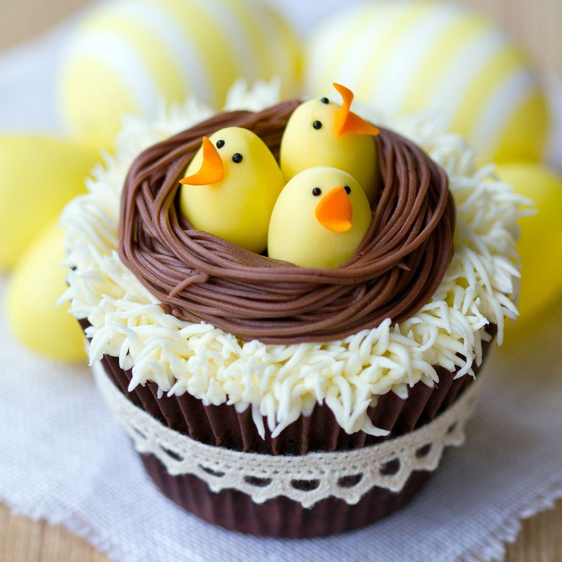 Ostercupcakes mit Küken