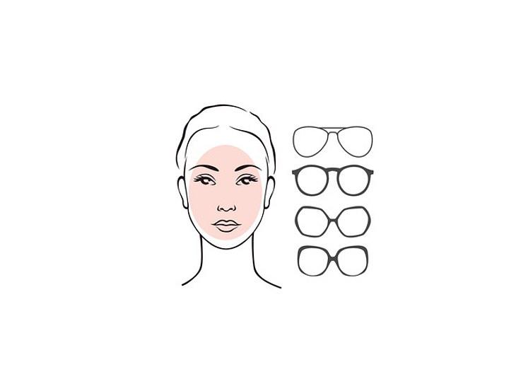 Ein ovales Gesicht kann jede Brillenform tragen.