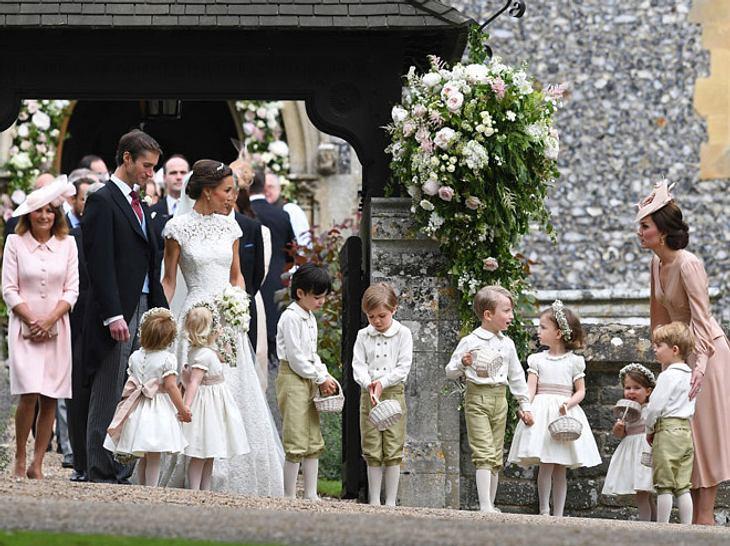 Kate sorgte sich bei Pippas Hochzeit um die Blumenkinder.