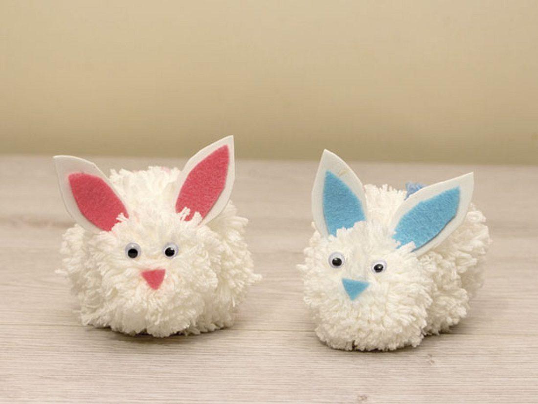 Pompom-Hasen selbst basteln