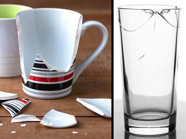 Wie sollte ich Porzellan und Glas entsorgen?