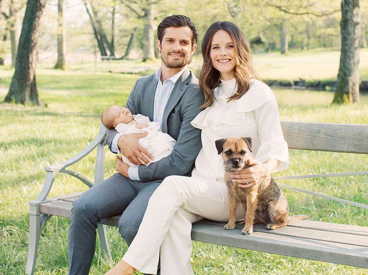 Prinzessin Sofia und Prinz Carl Philip mit Border Terrier Siri