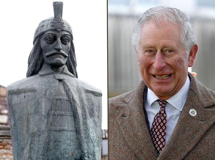 Prinz Charles und sein Verwandter Graf Dracula.