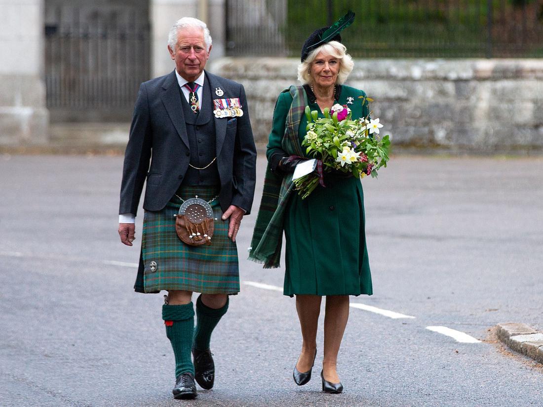 Prinz Charles und Herzogin Camilla in Schottland im Mai 2020.
