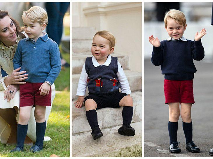 Darum trägt Prinz George immer kurze Hosen.