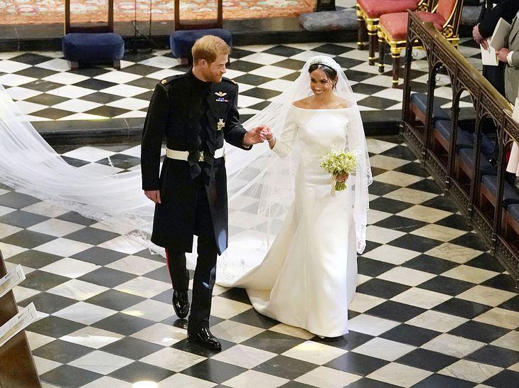 Prinz Harry und Meghan Markle nach ihrer Trauung.