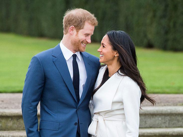 Prinz Harry mit seiner Verlobten Meghan Markle.
