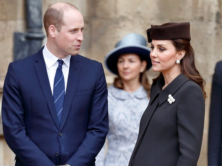 Prinz William und Kate Middleton beim Ostergottesdienst 2018.