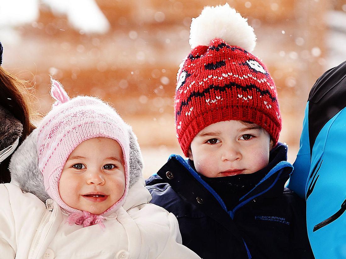 Prinz William mit Ehefrau Herzogin Kate und den beiden Kindern George und Charlotte.