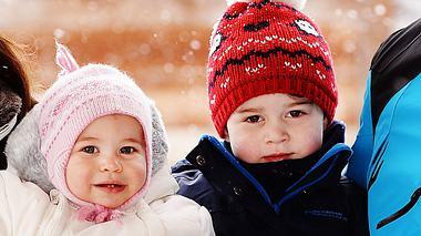 Prinz William mit Ehefrau Herzogin Kate und den beiden Kindern George und Charlotte. - Foto:  JOHN STILLWELL/GettyImages