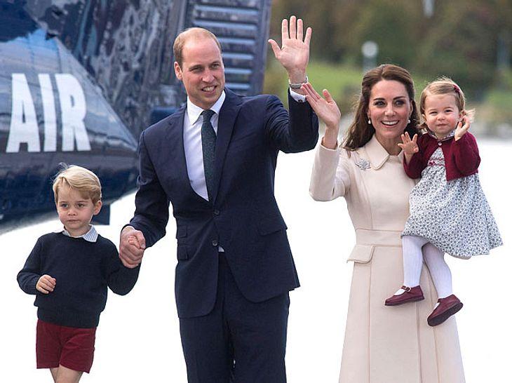 Prinz William und seine Familie während einer Kanada-Tour 2016.