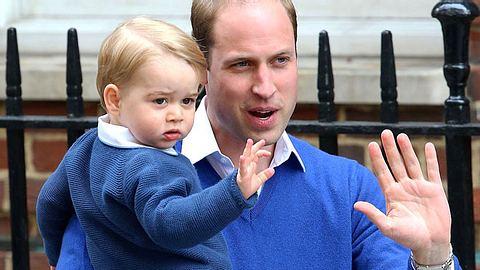 Prinz William und sein Sohn George