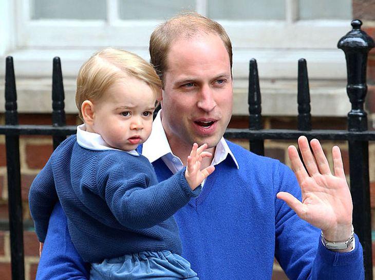 Prinz William mit seinem Sohn Prinz George.