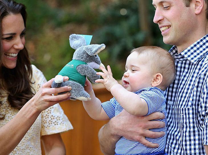 Prinz William, Herzogin Kate und Prinz George bei einem Besuch in Australien im Jahr 2014.