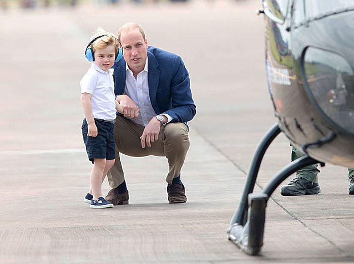 Prinz William und Prinz George bei der Royal International Air Tattoo, der größten militärischen Flugschau.