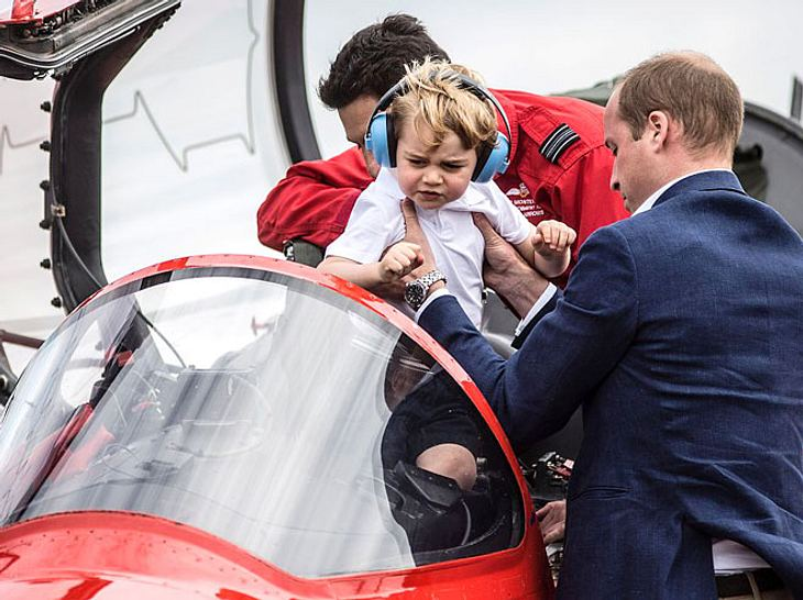 Prinz William und Prinz George bei der Royal International Air Tattoo 2016.