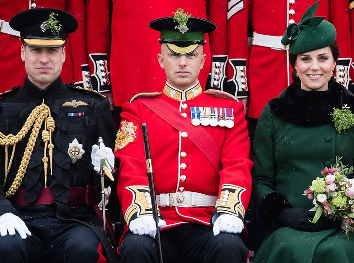Prinz William und Kate Middleton waren zu Gast bei der St. Patricks Day Parade in England.