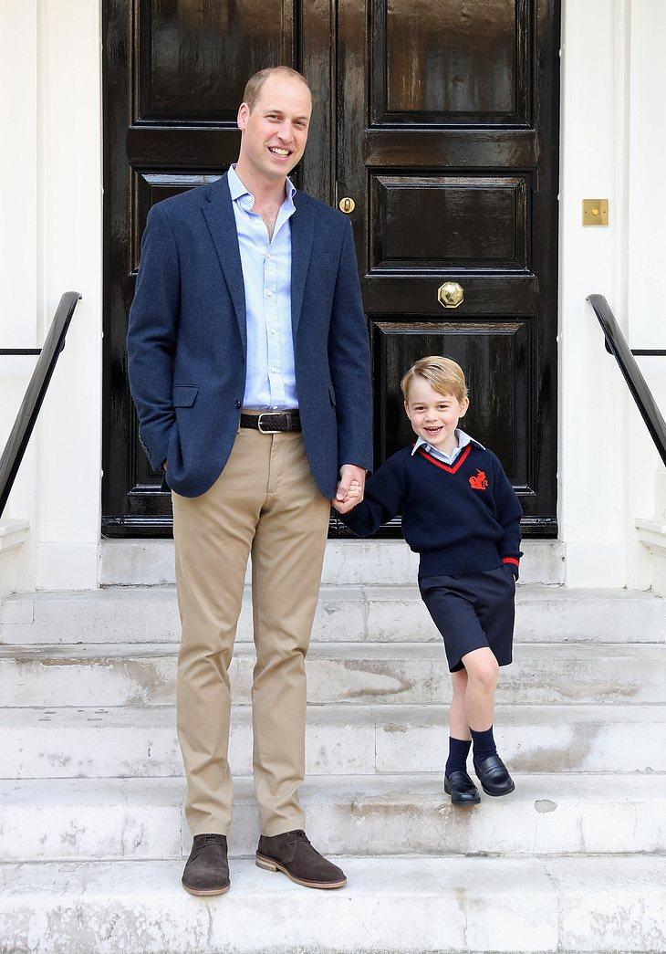 Prinz William begleitet seinen Sohn, Prinz George, zur Einschulung