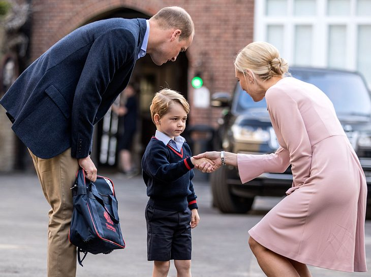 Prinz George erster Schultag.