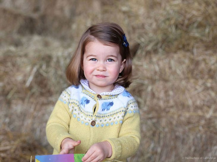Prinzessin Charlotte feiert ihren zweiten Geburtstag.