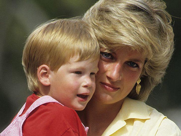 Prinzessin Diana mit ihrem Sohn Harry.