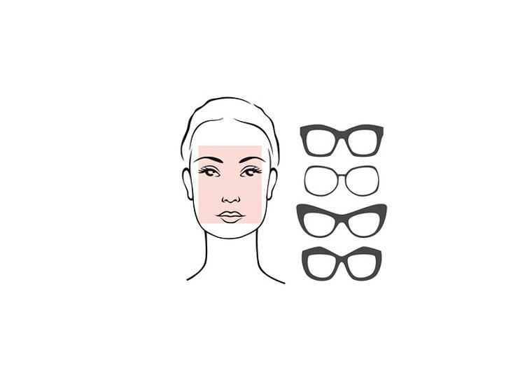 Rechteckige Gesichter vertragen runde Brillen.