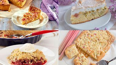Rhabarberkuchen mit Baiser, Pudding und Co.: 4 leckere Rezepte
