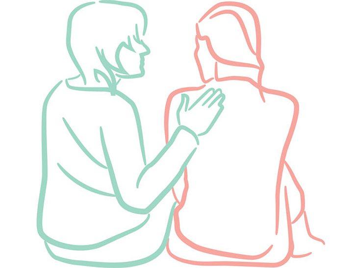 Wie Sie richtig trösten und helfen