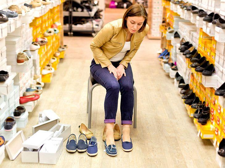 Sie sollten die für Sie richtige Schuhgröße gut kennen.