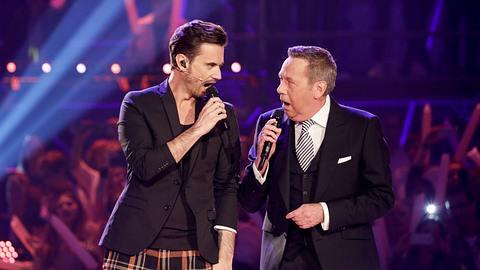 Florian Silbereisen und Roland Kaiser. - Foto: Isa Foltin / Kontributor / getty Images