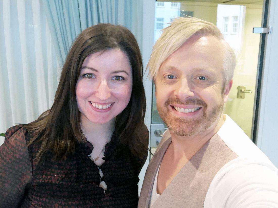 Ross Antony mit Liebenswert-Redakteurin Kerstin Ammermann.