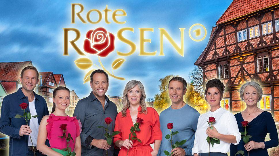 Hauptcast der 19. Staffel Rote Rosen. - Foto: ARD / Thorsten Jander, Juergen Sack/ iStock, (Montage/Bearbeitung: Liebenswert)
