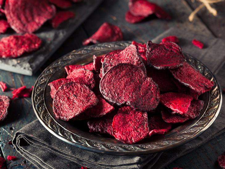 Rote Bete Chips selber machen.