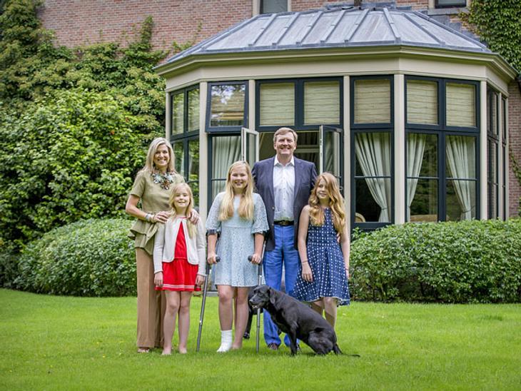 Die niederländische Royal-Family um Máxima, Willem-Alexander und ihre Kinder.
