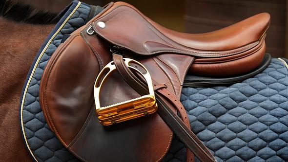 Sauberer Pferdesattel - Foto: iStock/Somogyvari