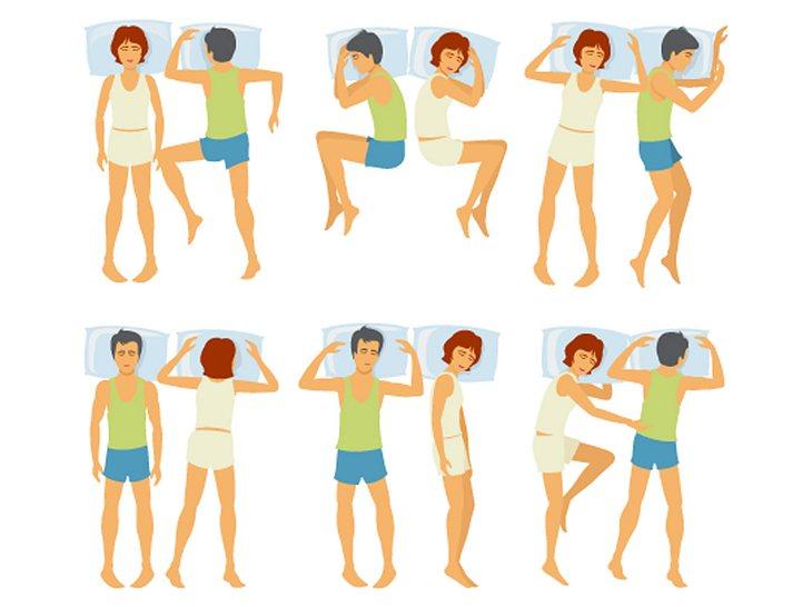 Die Schlafpositionen von Paaren verraten viel über die Beziehung.