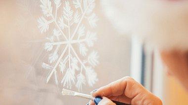 Fensterbilder zu Weihnachten