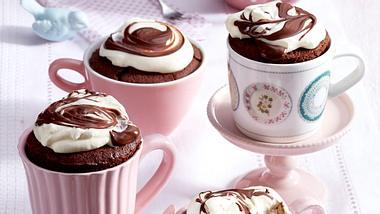 Schoko-Tassenkuchen mit Schlagsahne.  - Foto: House of Food