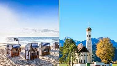 Nordsee und Allgäu sind beliebte Reiseziele.  - Foto: PK-Photos / mije_shots / iStock