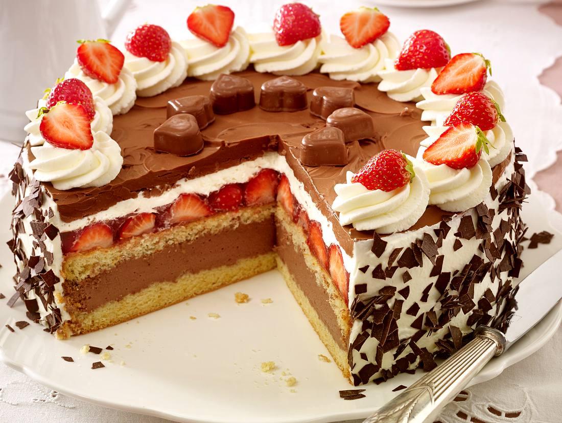 Schoko-Erdbeer-Torte.