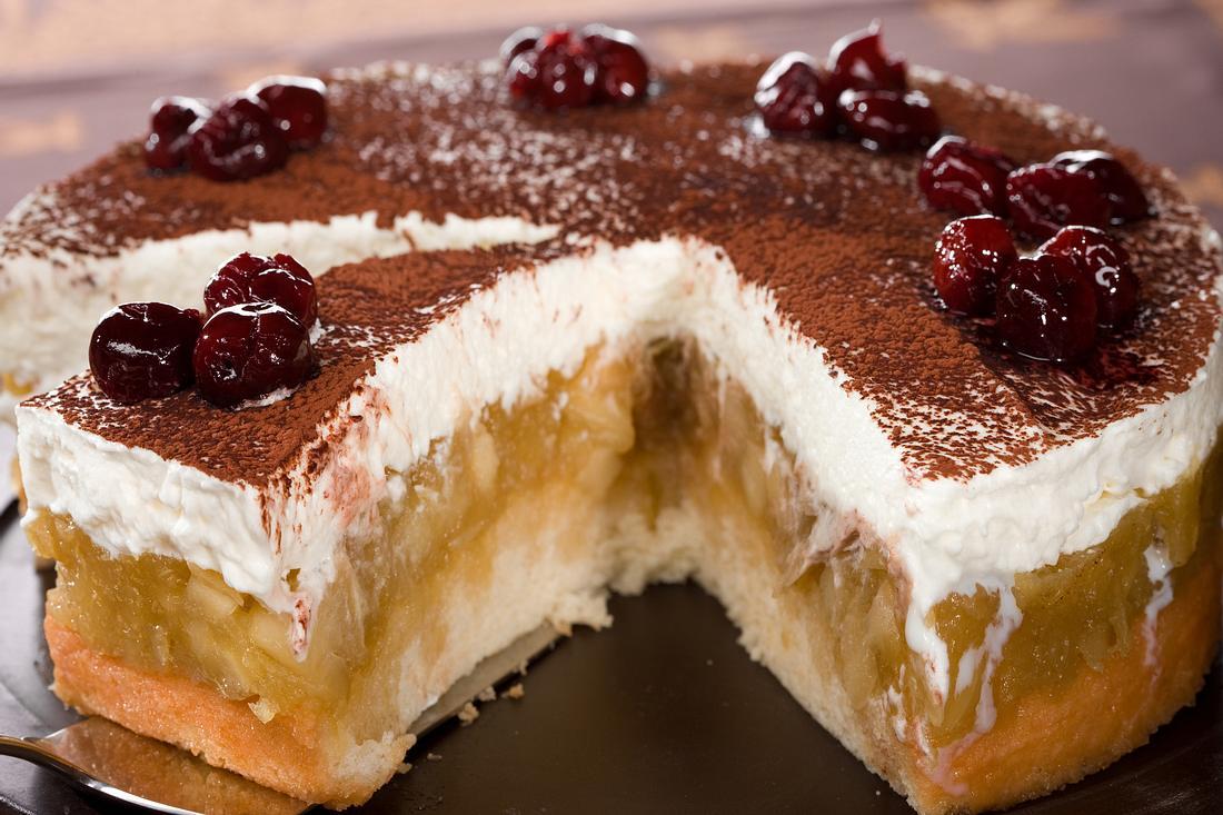 Schwedischer Apfelkuchen.