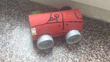 Magnetisches Auto für Kinder basteln
