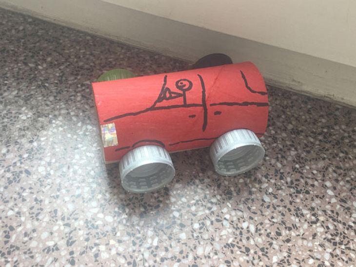 Magnetisches Spielzeugauto selbst basteln
