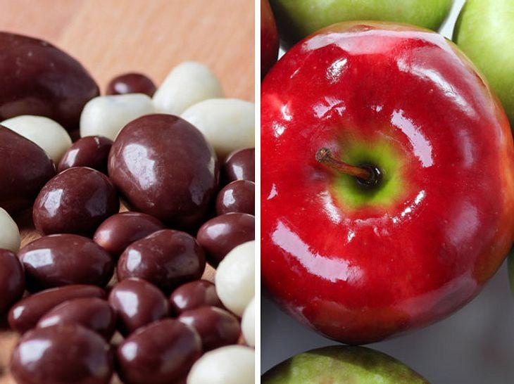 Überraschend: Auch Äpfel und Schoko-Bonbons können nicht vegetarisch sein.