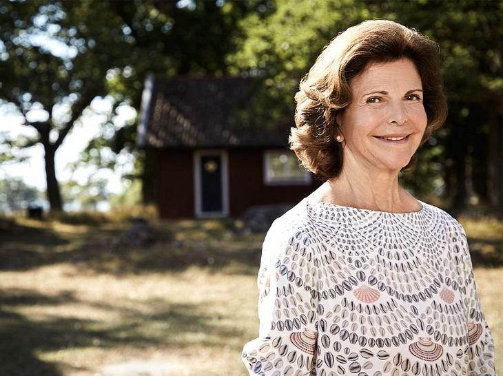 Porträt von Königin Silvia von Schweden